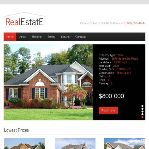 Real Estate E - Facebook HTML CMS Template