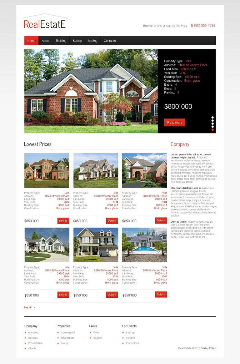 Real Estate Moto CMS HTML Template New Screenshots BIG