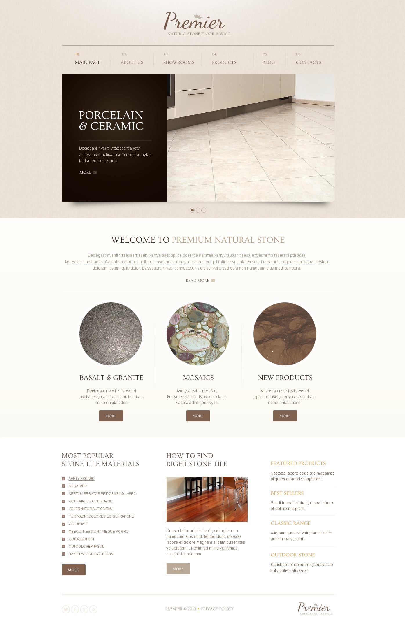 Reszponzív Mild Flooring Drupal sablon 44647