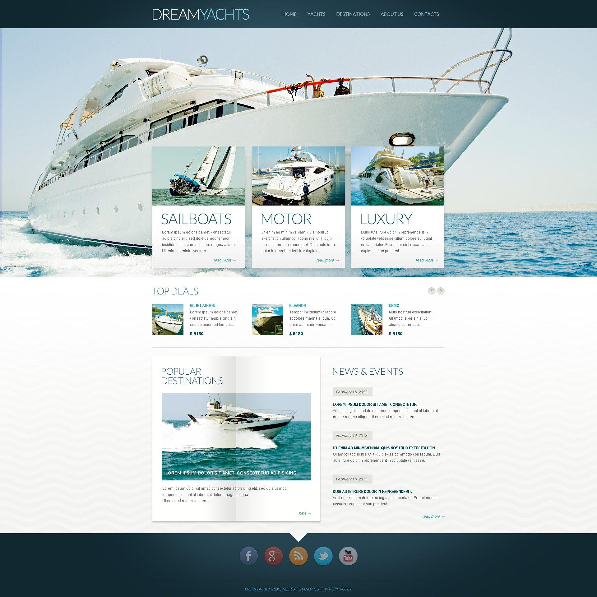"""""""Site de yachting"""" thème Drupal  #44697"""