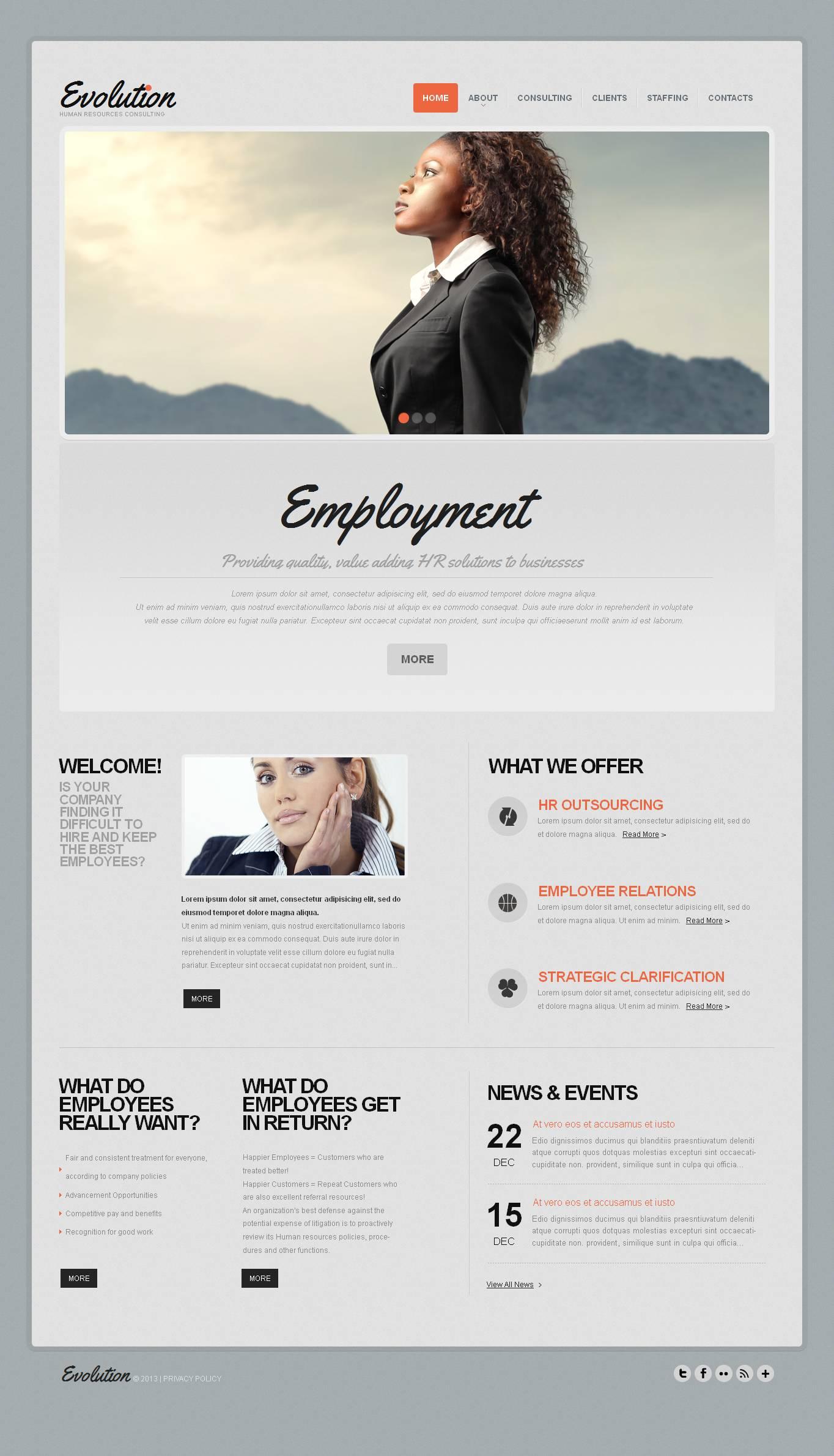 Template Moto CMS HTML para Sites de Portal de emprego №44607 - screenshot