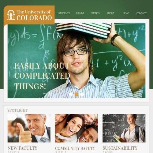 The University Of Colorado - Facebook HTML CMS Template