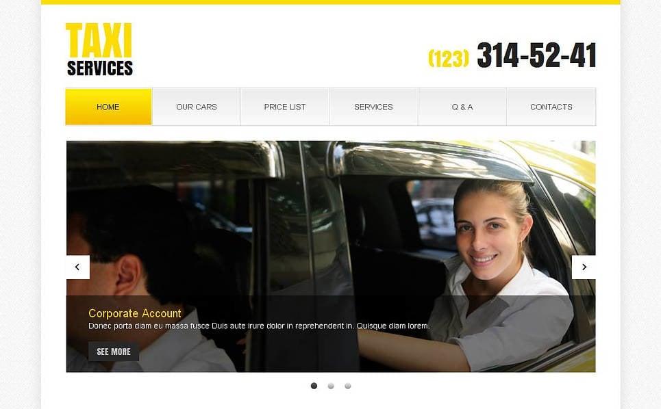 Szablon Moto CMS HTML #44703 na temat: taxi New Screenshots BIG