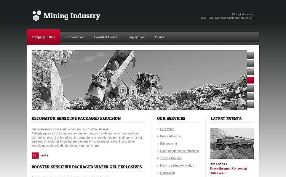 Plantilla Moto CMS HTML #44704 para Sitio de Compañía minera New Screenshots BIG
