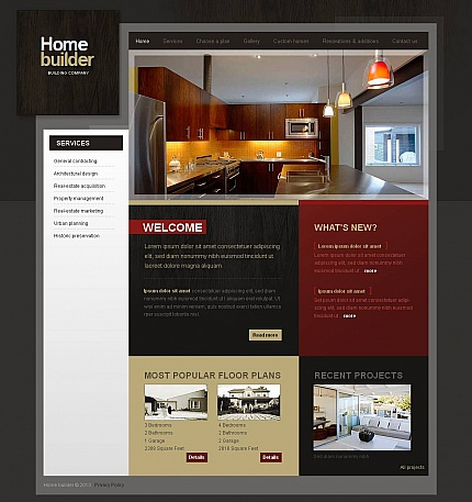 ADOBE Photoshop Template 44706 Home Page Screenshot