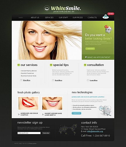 ADOBE Photoshop Template 44708 Home Page Screenshot