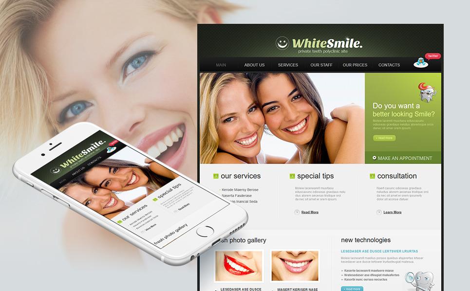 Szablon Moto CMS HTML #44708 na temat: stomatologia New Screenshots BIG