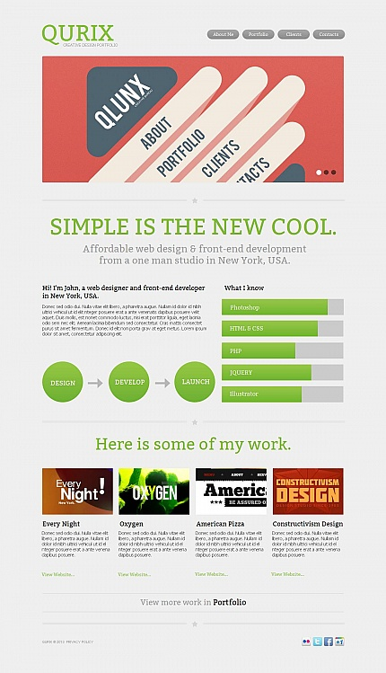 ADOBE Photoshop Template 44709 Home Page Screenshot