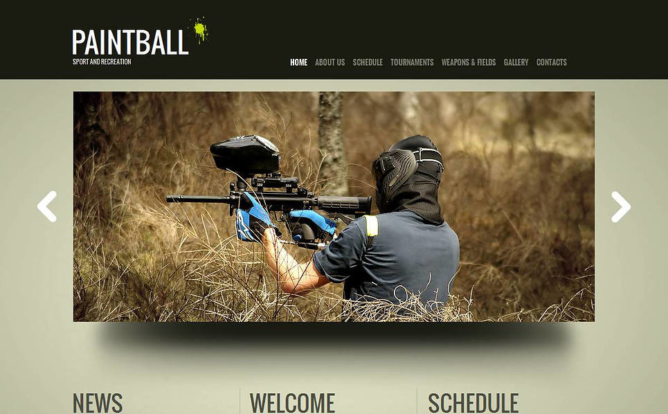 Szablon Moto CMS HTML #44710 na temat: paintball New Screenshots BIG
