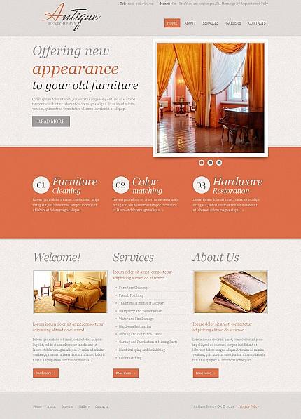ADOBE Photoshop Template 44711 Home Page Screenshot