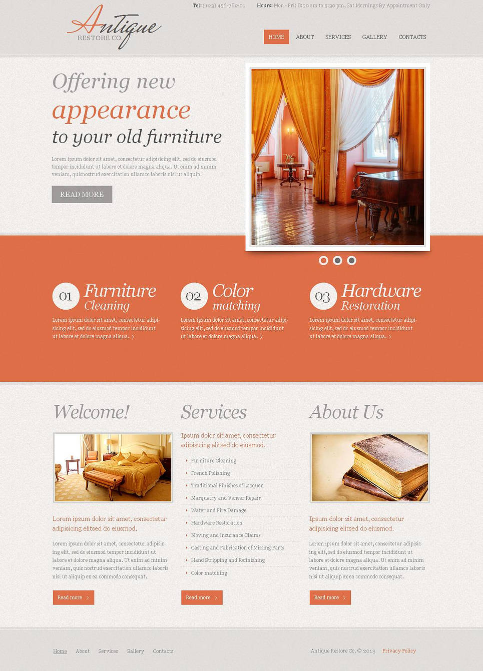 Antique Furniture Website Template - image