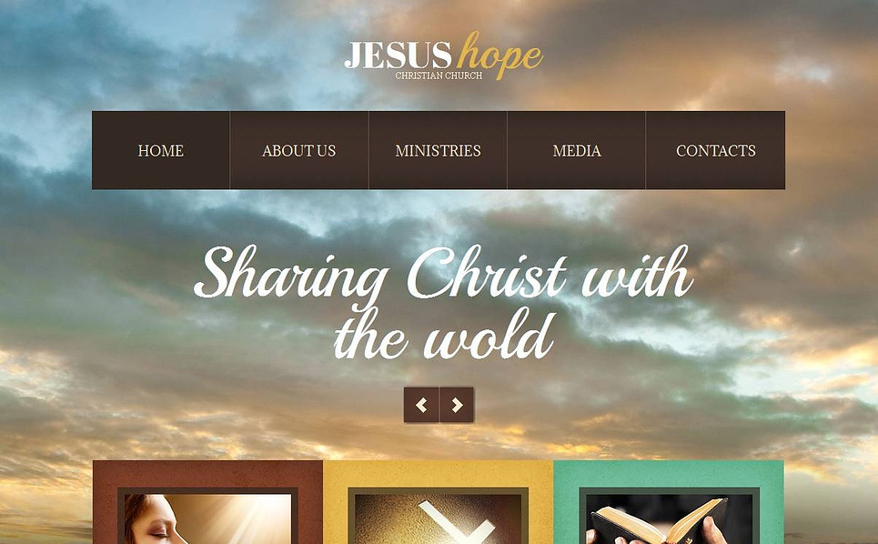 Plantilla Moto CMS HTML #44712 para Sitio de Cristianismo New Screenshots BIG