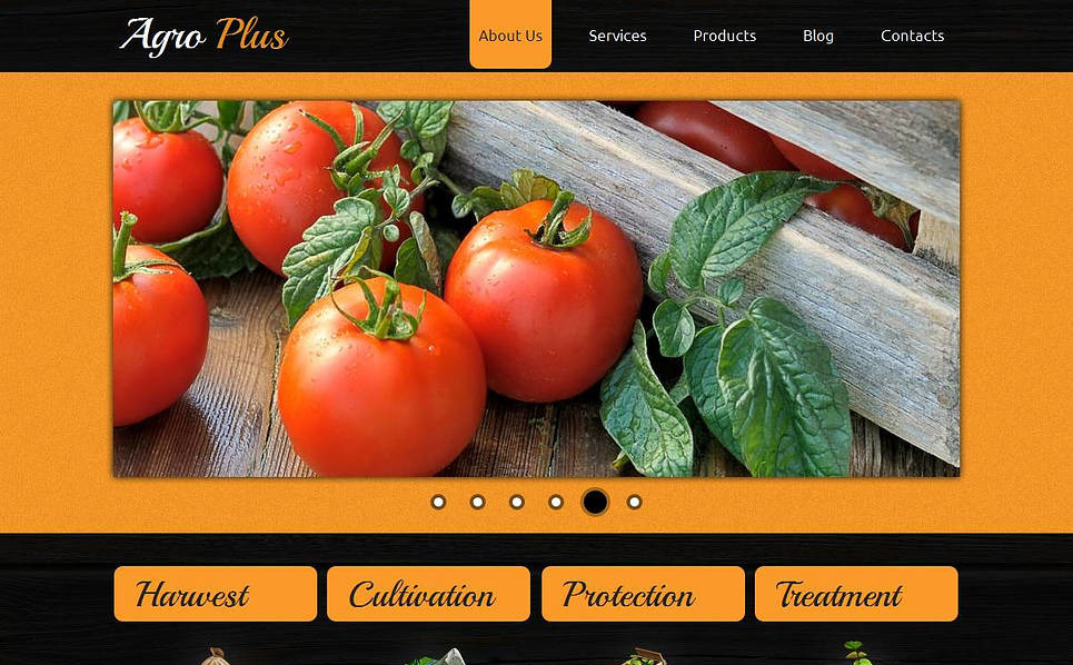 Plantilla Moto CMS HTML #44713 para Sitio de Agricultura New Screenshots BIG