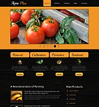 Agriculture Moto CMS HTML  Template 44713