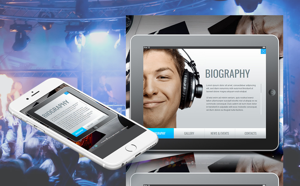 Plantilla Moto CMS HTML #44717 para Sitio de Página personal New Screenshots BIG