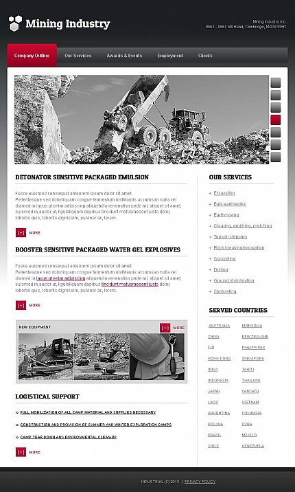 ADOBE Photoshop Template 44720 Home Page Screenshot