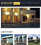 Architecture Facebook HTML CMS  Template 44723