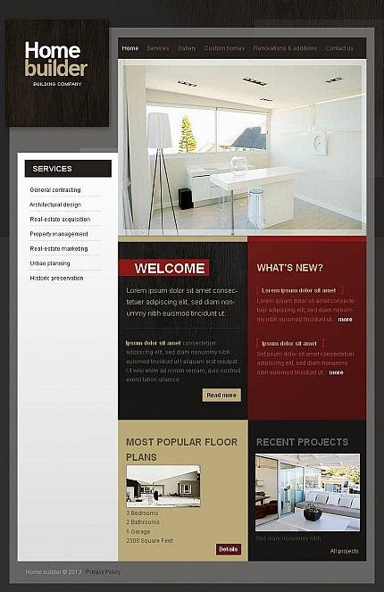 ADOBE Photoshop Template 44725 Home Page Screenshot