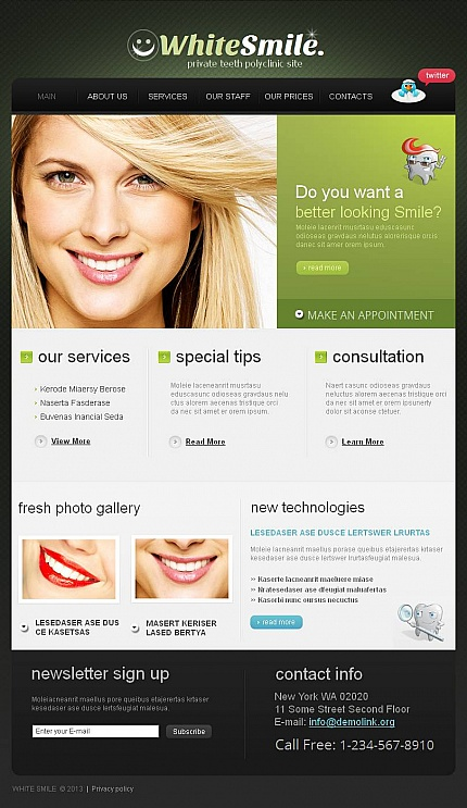 ADOBE Photoshop Template 44727 Home Page Screenshot