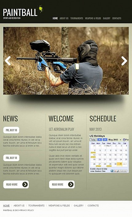 ADOBE Photoshop Template 44737 Home Page Screenshot