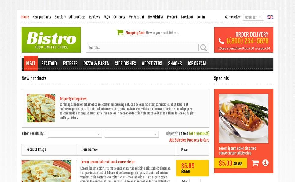 """Plantilla ZenCart """"Online Bistro"""" New Screenshots BIG"""