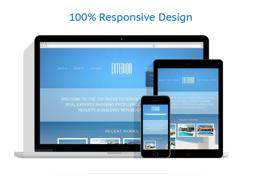 Exterior design website template 44749 for Exterior design website templates