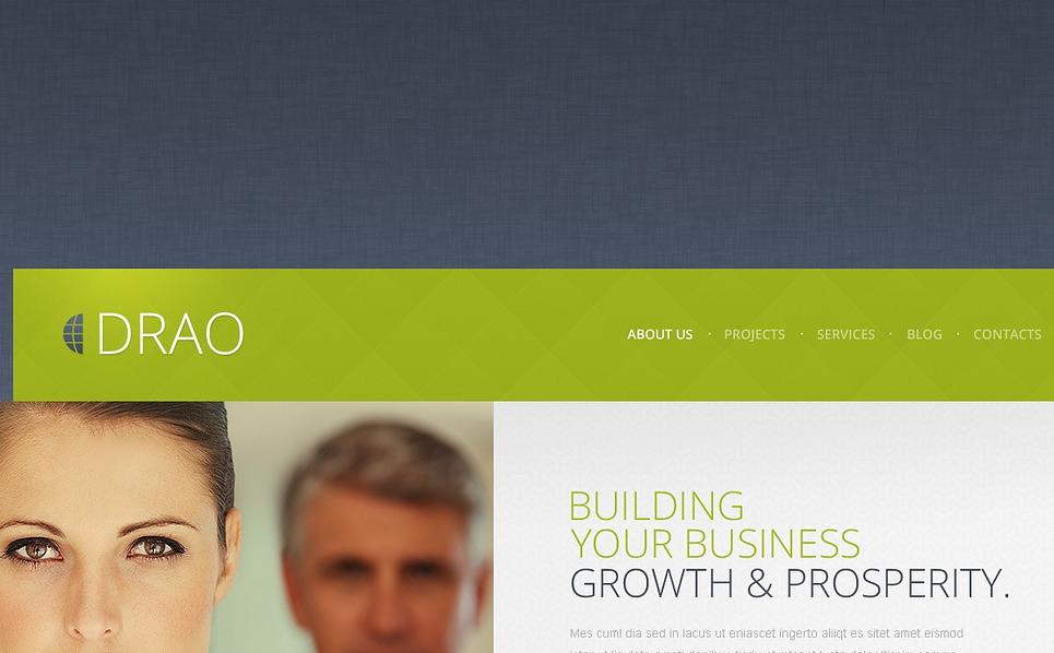 Bootstrap Befektetési társaságok Weboldal sablon New Screenshots BIG