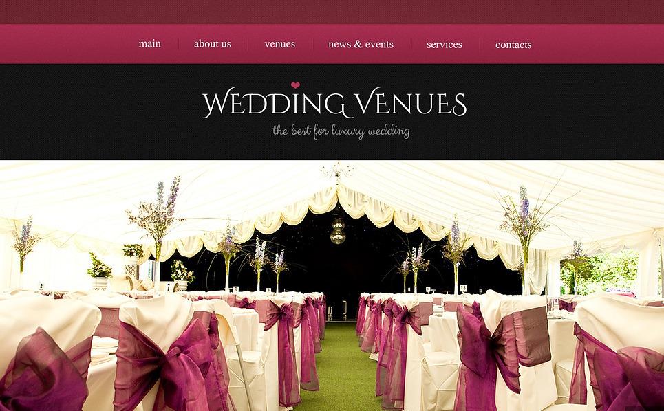Reszponzív Esküvői helyszínek  Weboldal sablon New Screenshots BIG