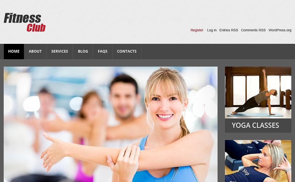 Reszponzív Fitnessz WordPress sablon New Screenshots BIG