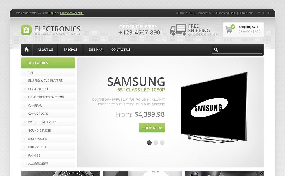 Szablon OpenCart #44763 na temat: sklep elektroniczny New Screenshots BIG