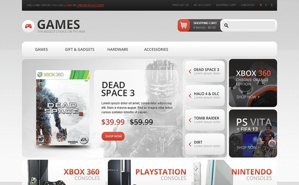 Thème OpenCart  pour site de jeux New Screenshots BIG