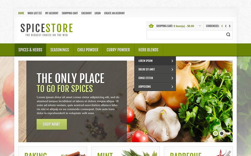 OpenCart шаблон на тему магазин спецій New Screenshots BIG