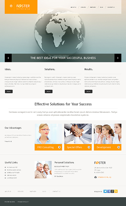 Business Wordpress Theme Website Templates