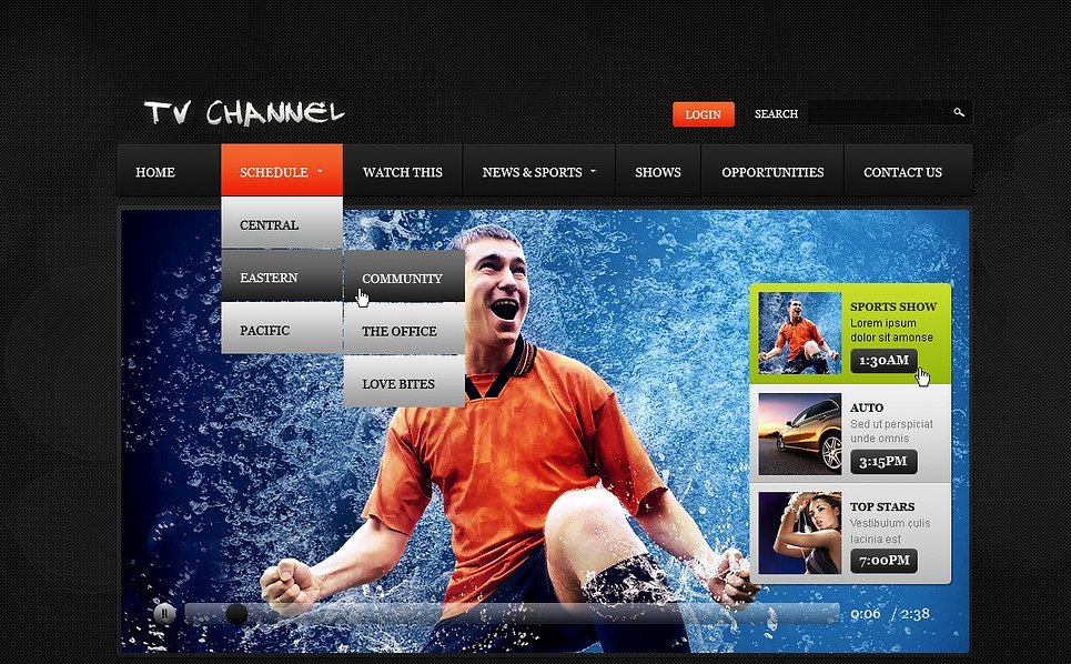 Premium Flash CMS Template over Tv-zender  New Screenshots BIG