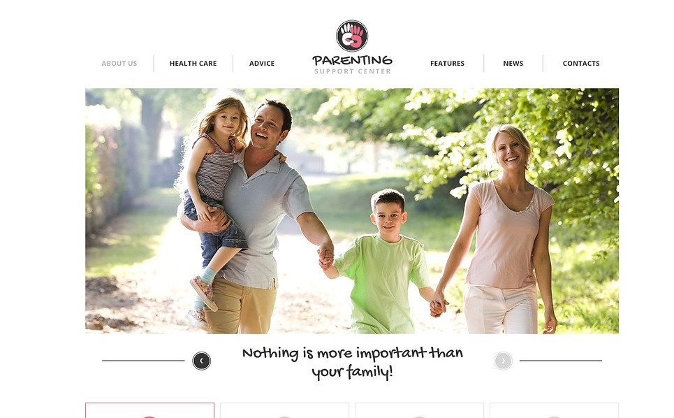 Template Flash CMS  #44782 per Un Sito di Famiglia New Screenshots BIG