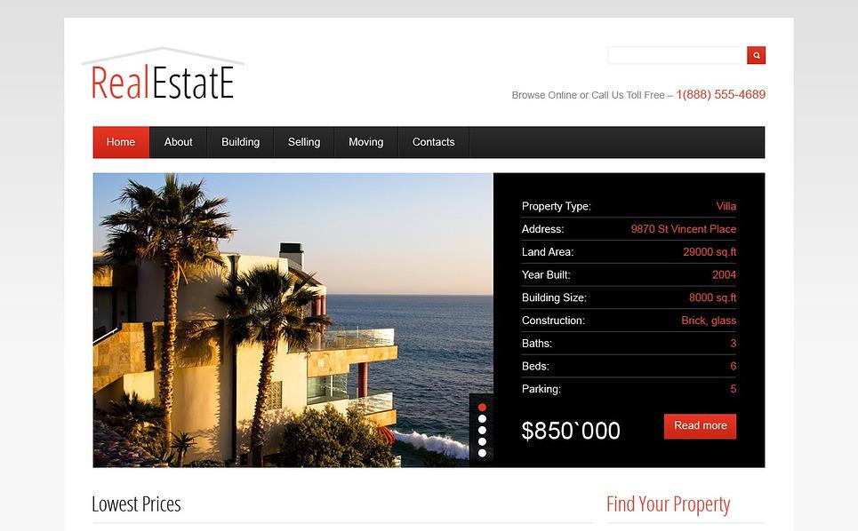 Luxusní Flash CMS šablona na téma Realitní New Screenshots BIG