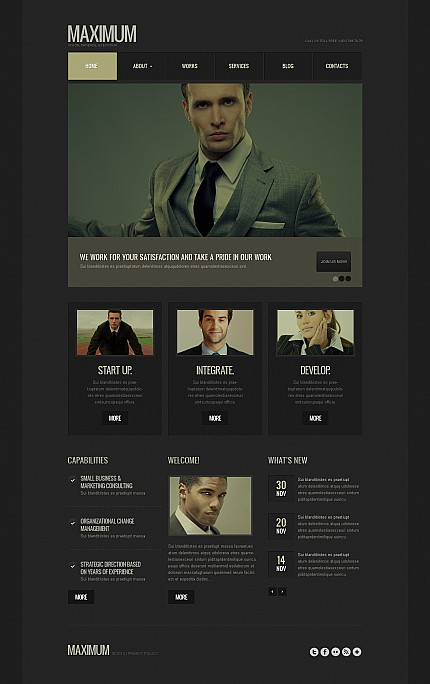 ADOBE Photoshop Template 44791 Home Page Screenshot
