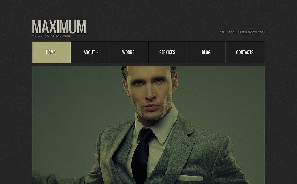 Premium Flash CMS Template over Accounting Website New Screenshots BIG