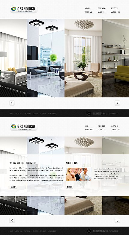 ADOBE Photoshop Template 44794 Home Page Screenshot