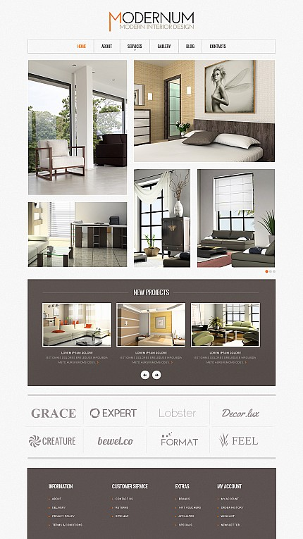ADOBE Photoshop Template 44795 Home Page Screenshot