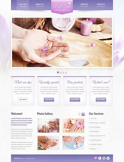 ADOBE Photoshop Template 44799 Home Page Screenshot