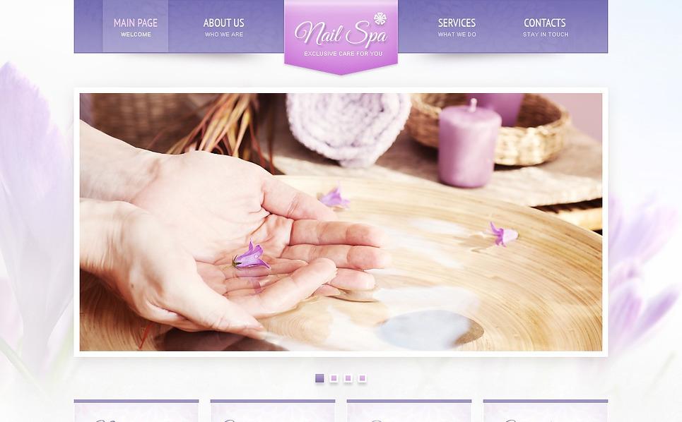 Flash CMS шаблон на тему манікюрний салон New Screenshots BIG