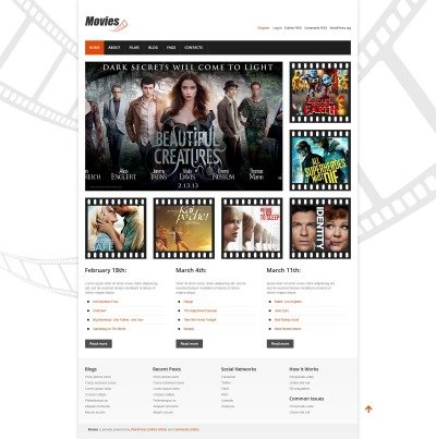 Movie Responsive WordPress шаблон