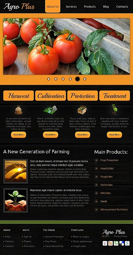 Agriculture Facebook HTML CMS Template Facebook Screenshot