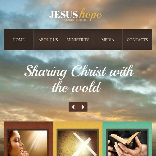 Jesus Hope - Facebook HTML CMS Template
