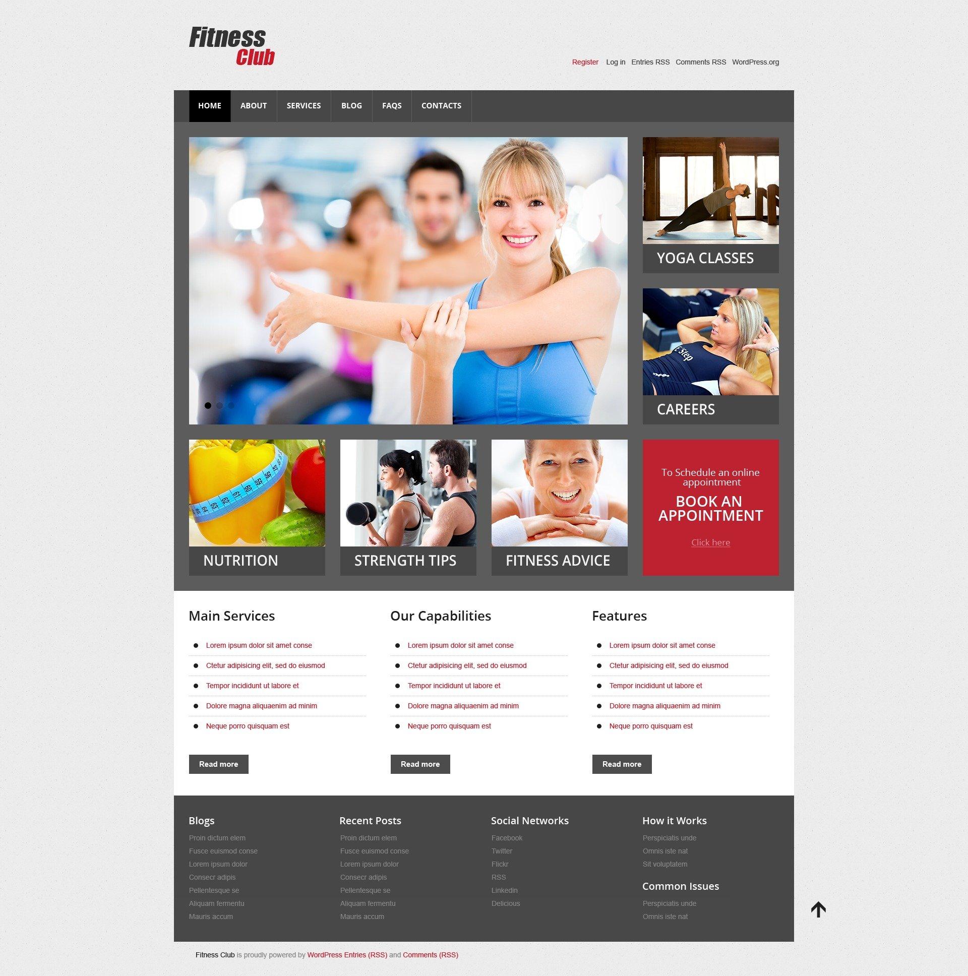 Fitness Responsive WordPress Theme - screenshot
