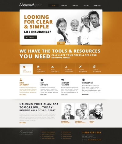 health insurance website templates