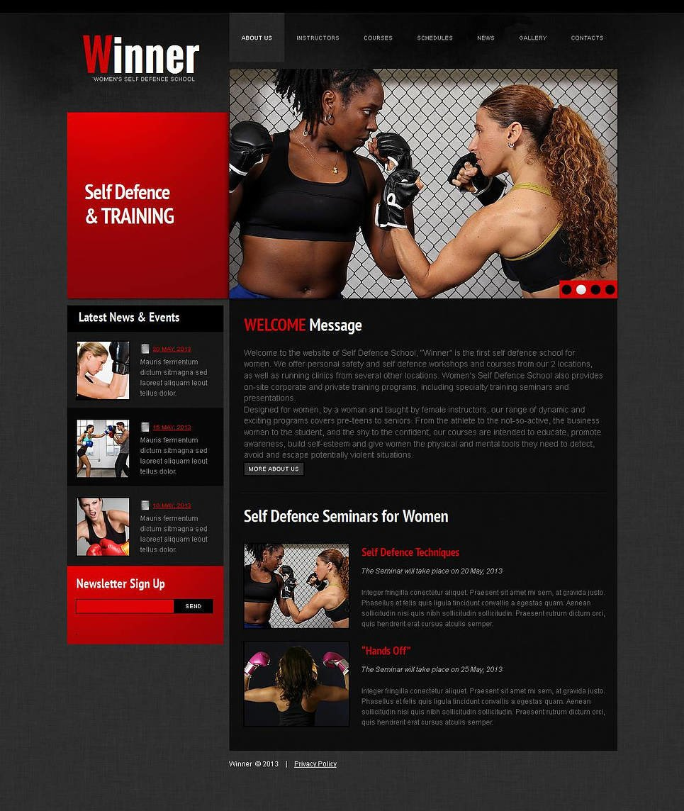 Martial Arts Moto CMS HTML Template New Screenshots BIG