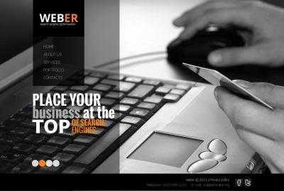 Moto CMS HTML Vorlage für SEO Website