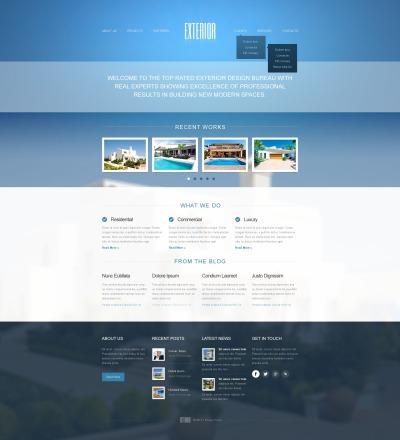 Responsive Plantilla Web #44749 para Sitio de  para Sitio de Diseño de paisaje